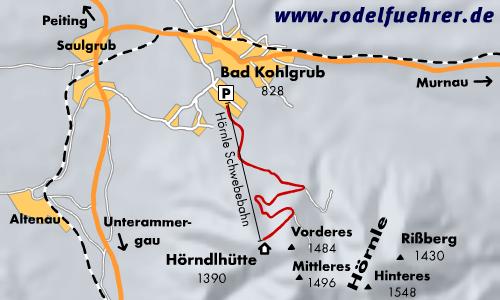 Rodelbahn Bad Kohlgrub - Hörnlebahn