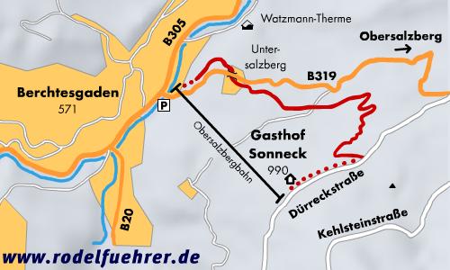 Rodelbahn Berchtesgaden - Obersalzberg