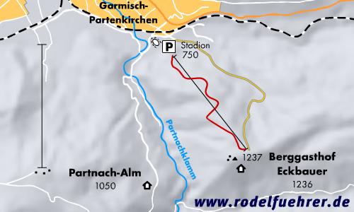 Rodelbahn Garmisch - Eckbauer