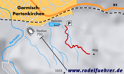 Rodelbahn Garmisch - Kainzenbad