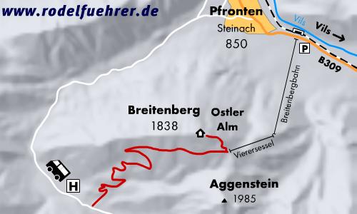 Rodelbahn Pfronten - Breitenberg