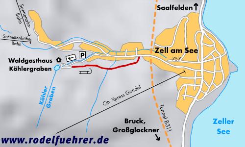 Rodelbahn Zell am See - Köhlergraben